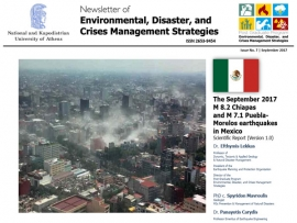EDCM Newsletter #3 - The September 2017 M8.2 Chiapas and M7.1 Puebla-Morelos earthquakes in Mexico