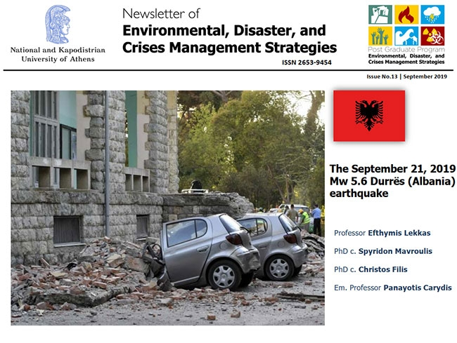 Newsletter #13 - The September 21, 2019 Mw 5.6 Durres (Albania) Earthquake
